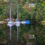 Moored Boats Loch Oich by Naomi Ward