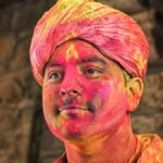 Happy Rawall At The Holi Festival by Wendy Collens