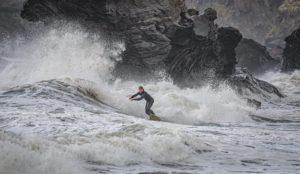 Surfing through Stormy Seas by Kathryn Graham