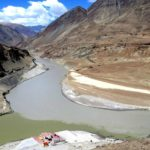 Confluence of the Indus and Zasgar Rivers by Kath Mitchell