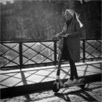 Scooter sur le pont by Ian Hardacre